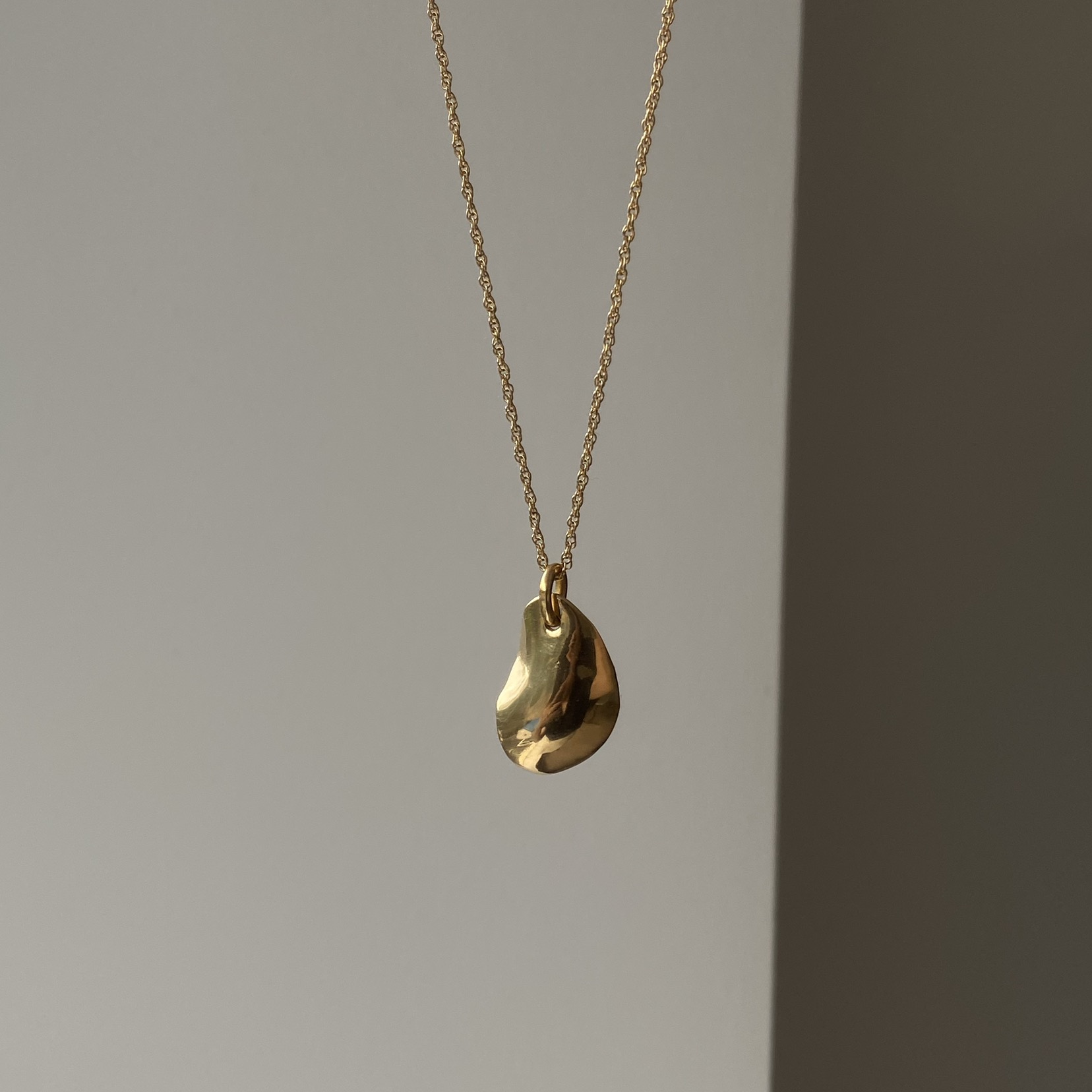golden plate necklace